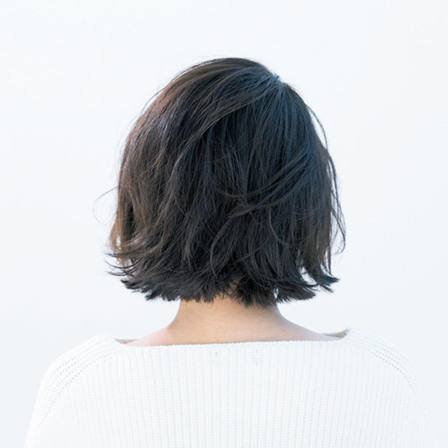 パーマなし! カットだけで動きのあるワンレン風ボブ【40代のショートヘア】_1_1-3