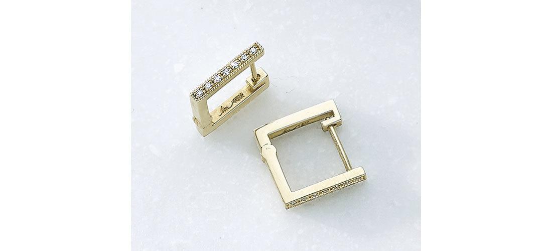 ピアス(K18YG×ダイヤモンド)¥154,000/ディアリウム 渋谷スクランブルスクエア店(リジーマンドラー)