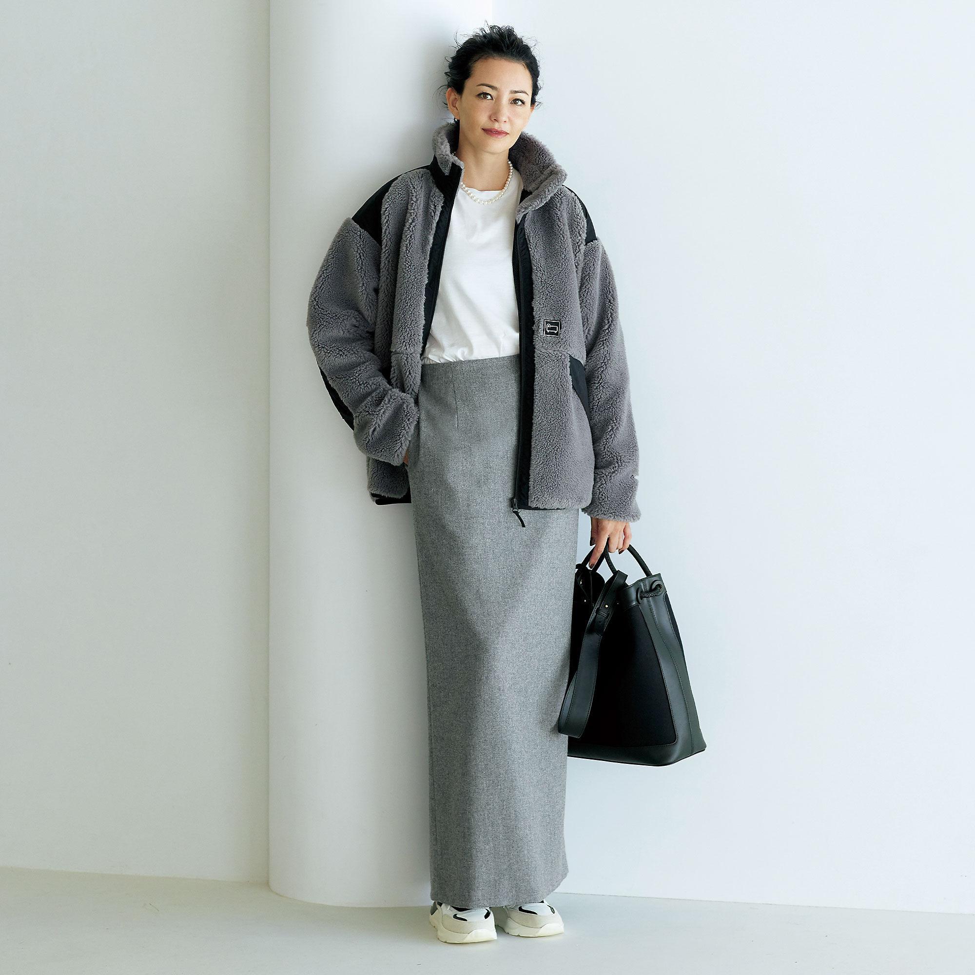 徳原文子×éclat ストレートスカート