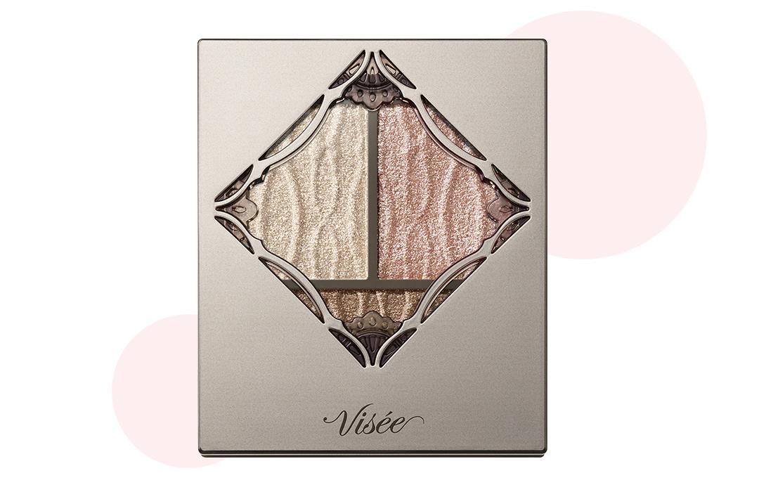 ヴィセ史上最高の輝き! 美容液成分入りのしっとりとしたベースで、ラメやパールがしっかり密着。 ヴィセ リシェプリズムヴィーナス アイズ BE-1 ¥1200(編集部調べ) /コーセー