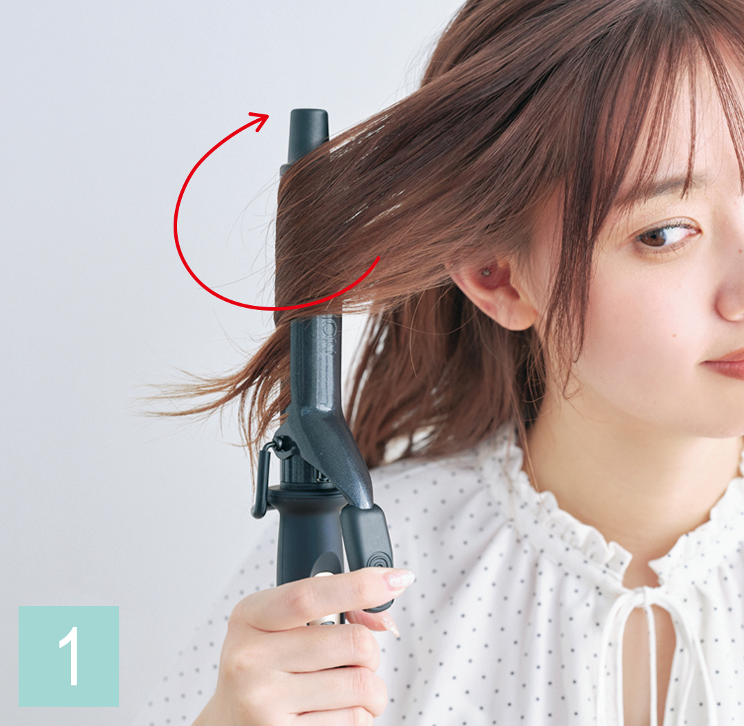 巻き髪アレンジ♡ ミディアムさんの仕込み技を超ていねい解説!_1_3-1