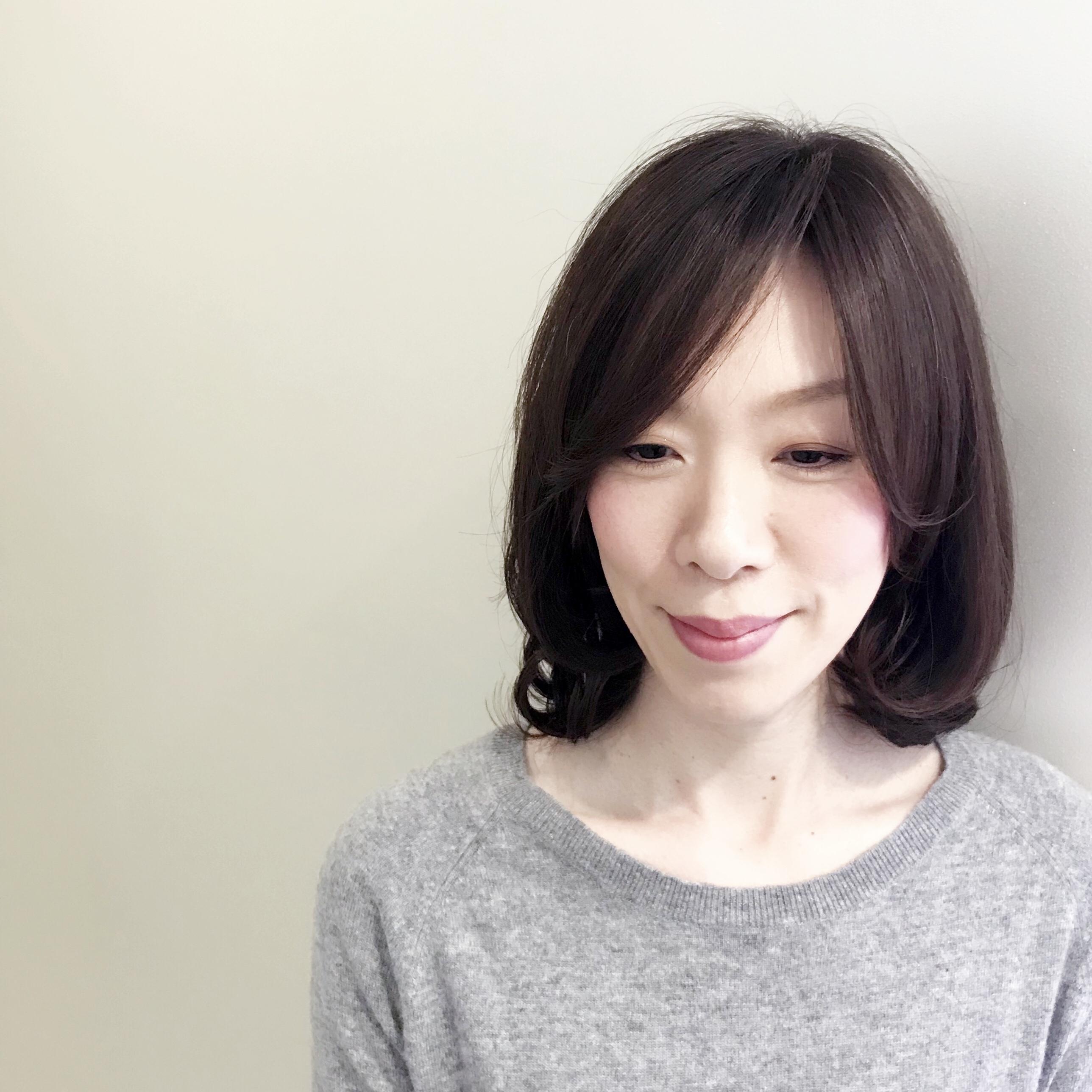 冬髪はゆれ髪。ちょこっとレイヤー&ゆる巻きで女っぷり上々!(たぶん。笑)_1_1-1