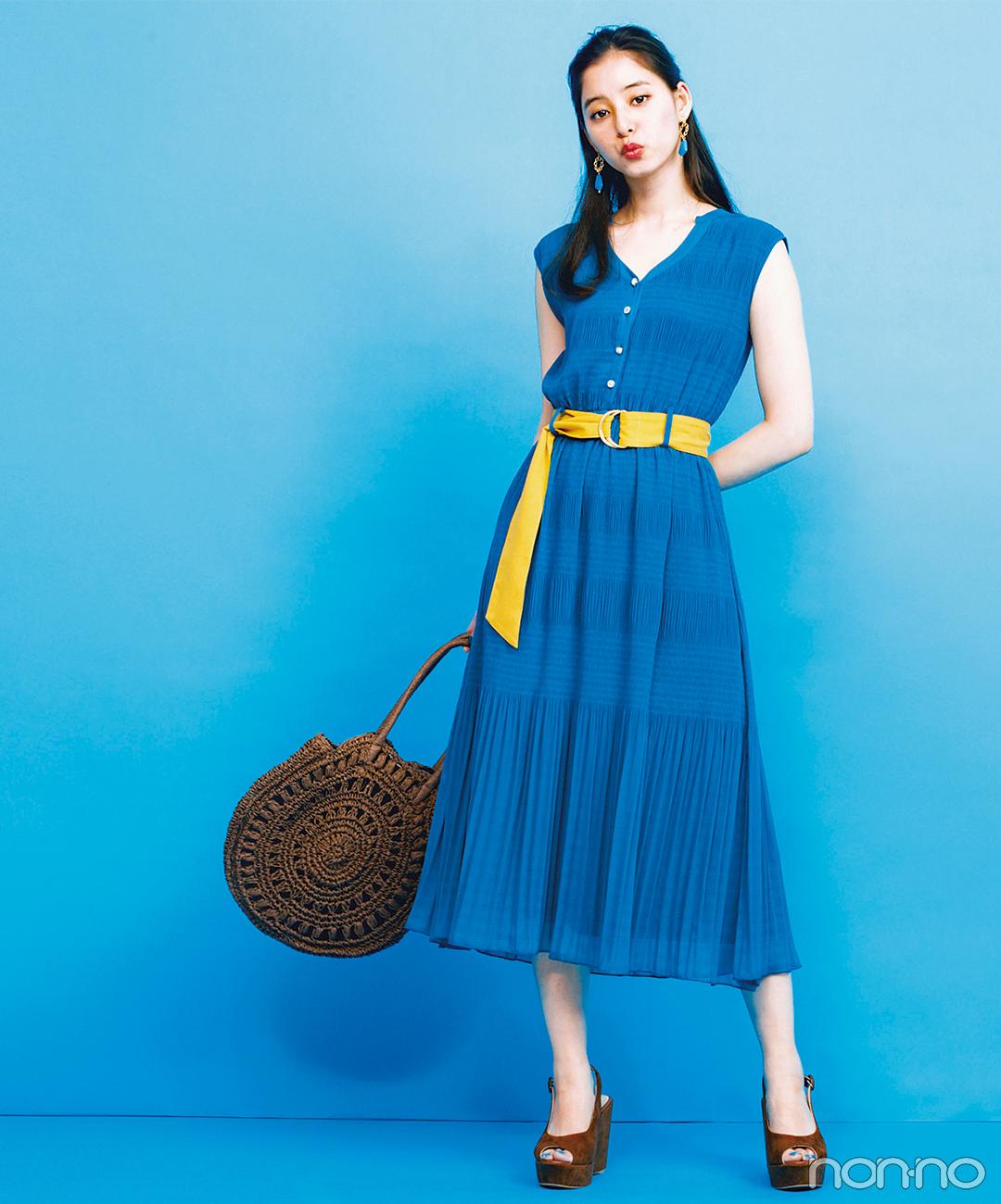 新木優子はブルーワンピのリゾ風コーデで♡ 涼しげ夏ガール!【毎日コーデ】