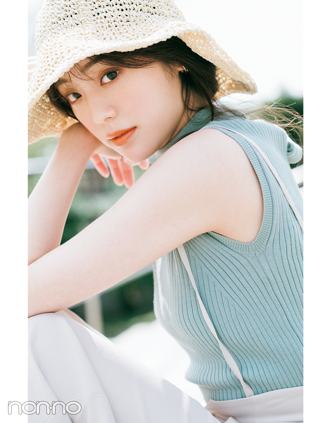 貴島明日香のきれいめフェミニンな夏コーデ3