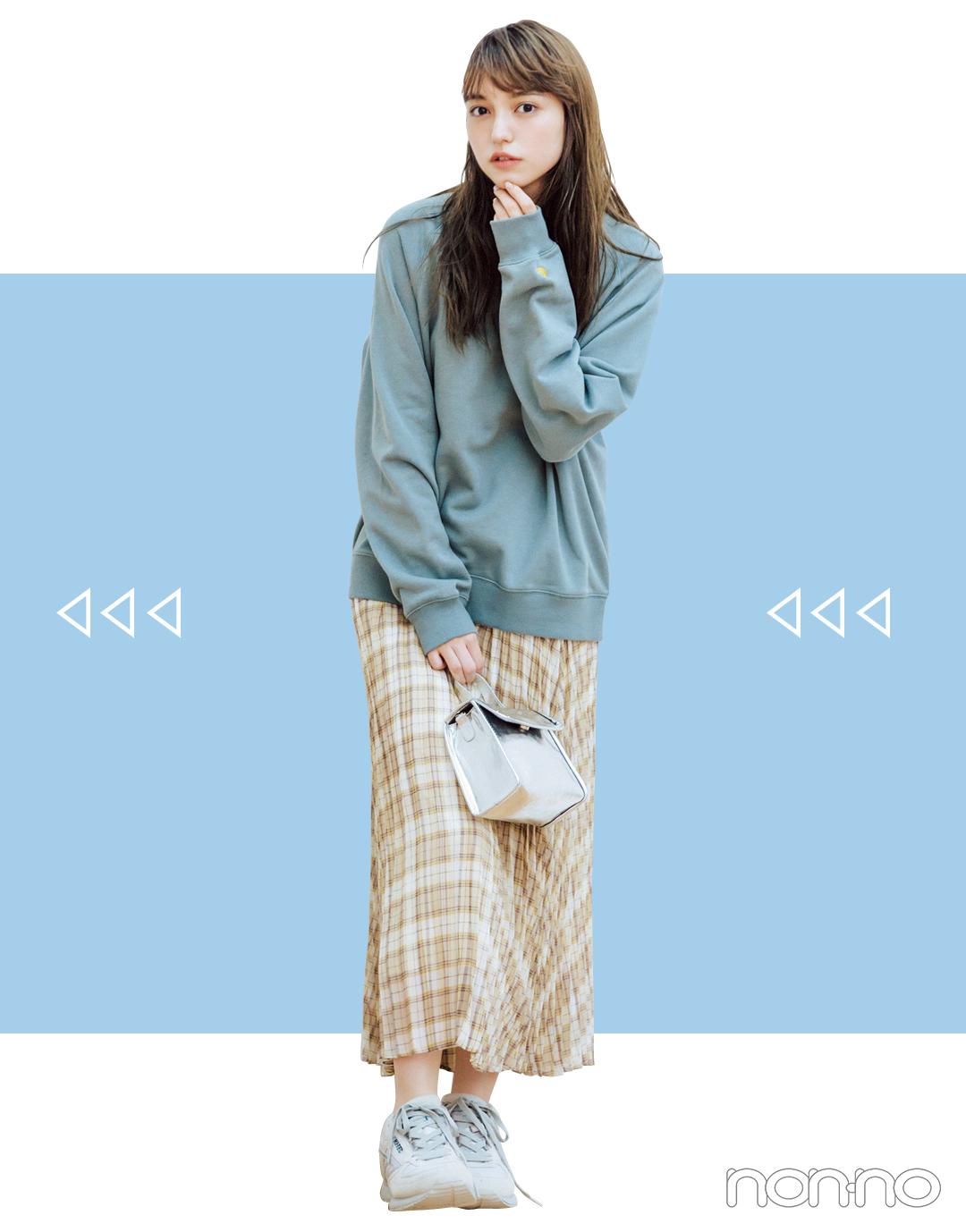 2019秋トレンド★ 今買うプリーツスカート、10月まで着回せるのはコレ!_1_3-4