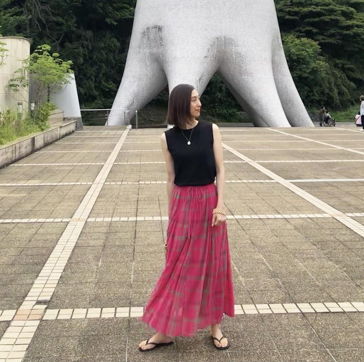 ピンクスカートで、岡本太郎美術館へ❤︎_1_7