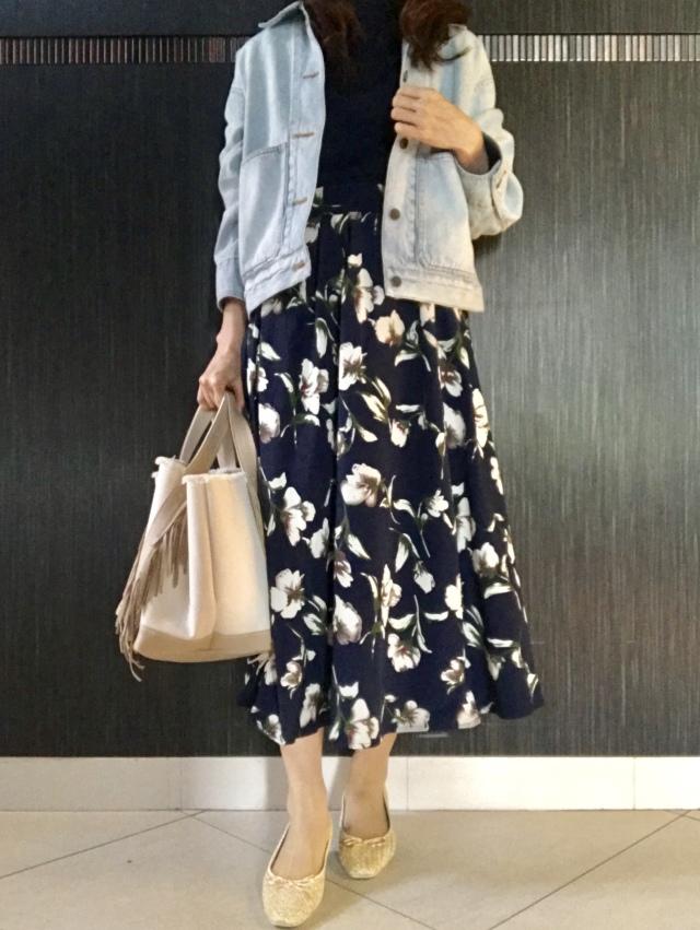 花柄スカートは甘すぎず上品に♡大人の選び方_1_6