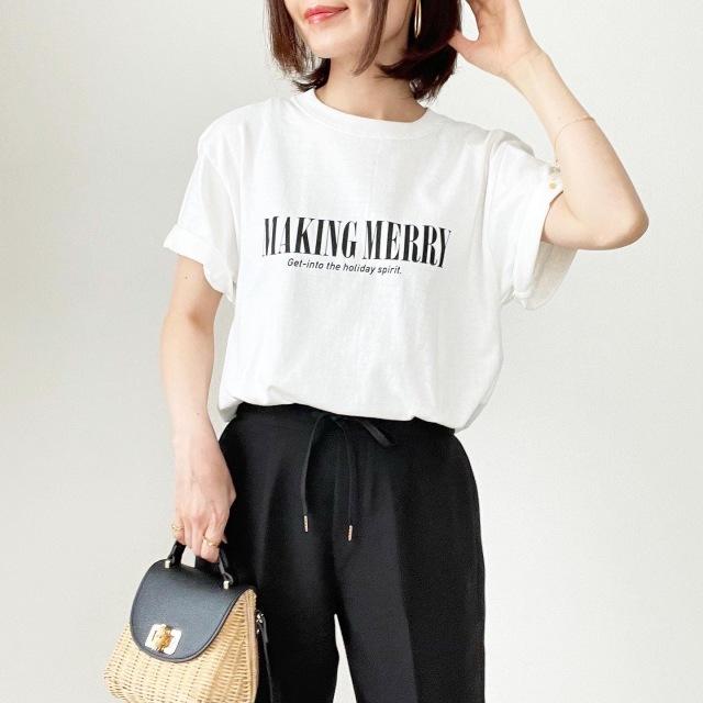今年1枚は欲しい!オーバーサイズロゴTシャツ【tomomiyuコーデ】_1_1
