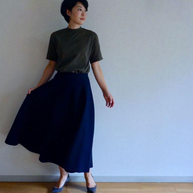 BLUEBIRD BOULEVARDのスカートで秋スタイル始め_1_1-2
