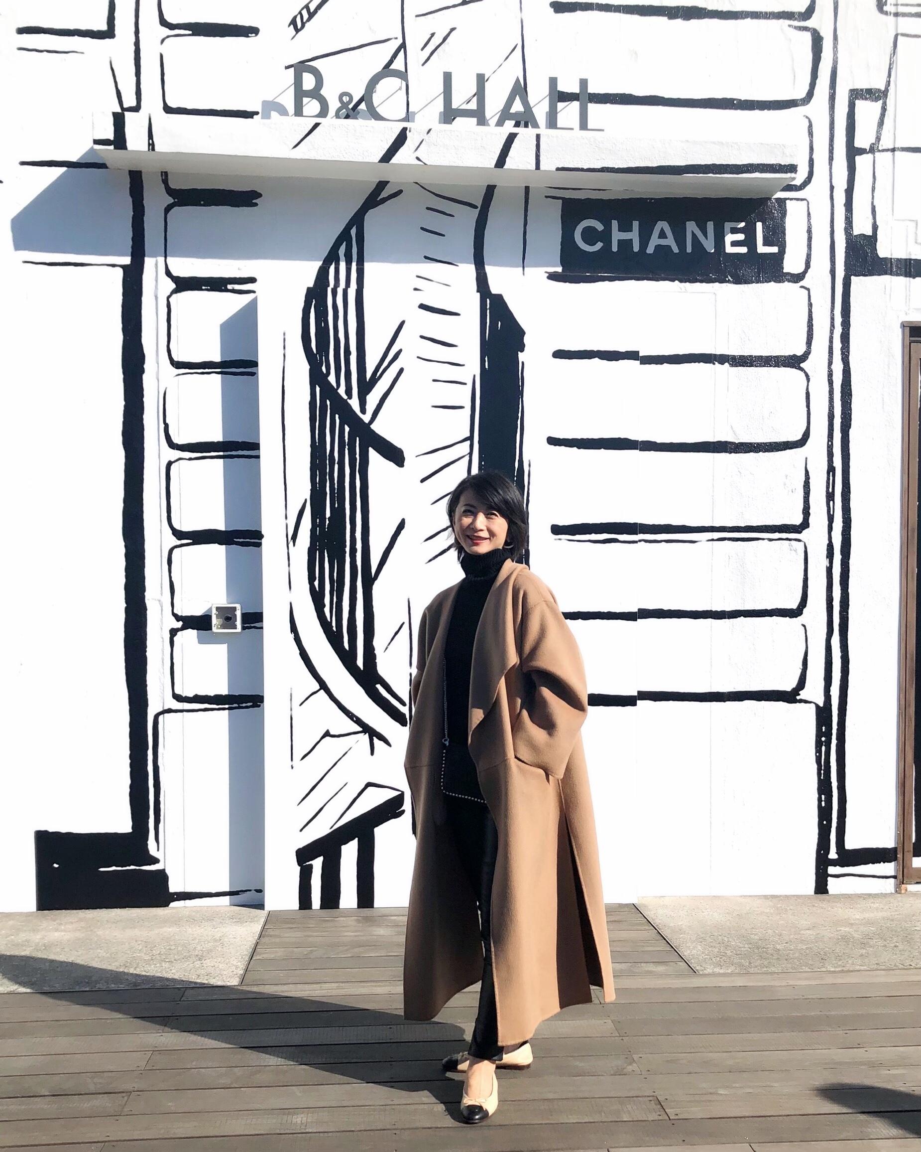 お気に入りキャメル色のコートとシャネル展_1_1