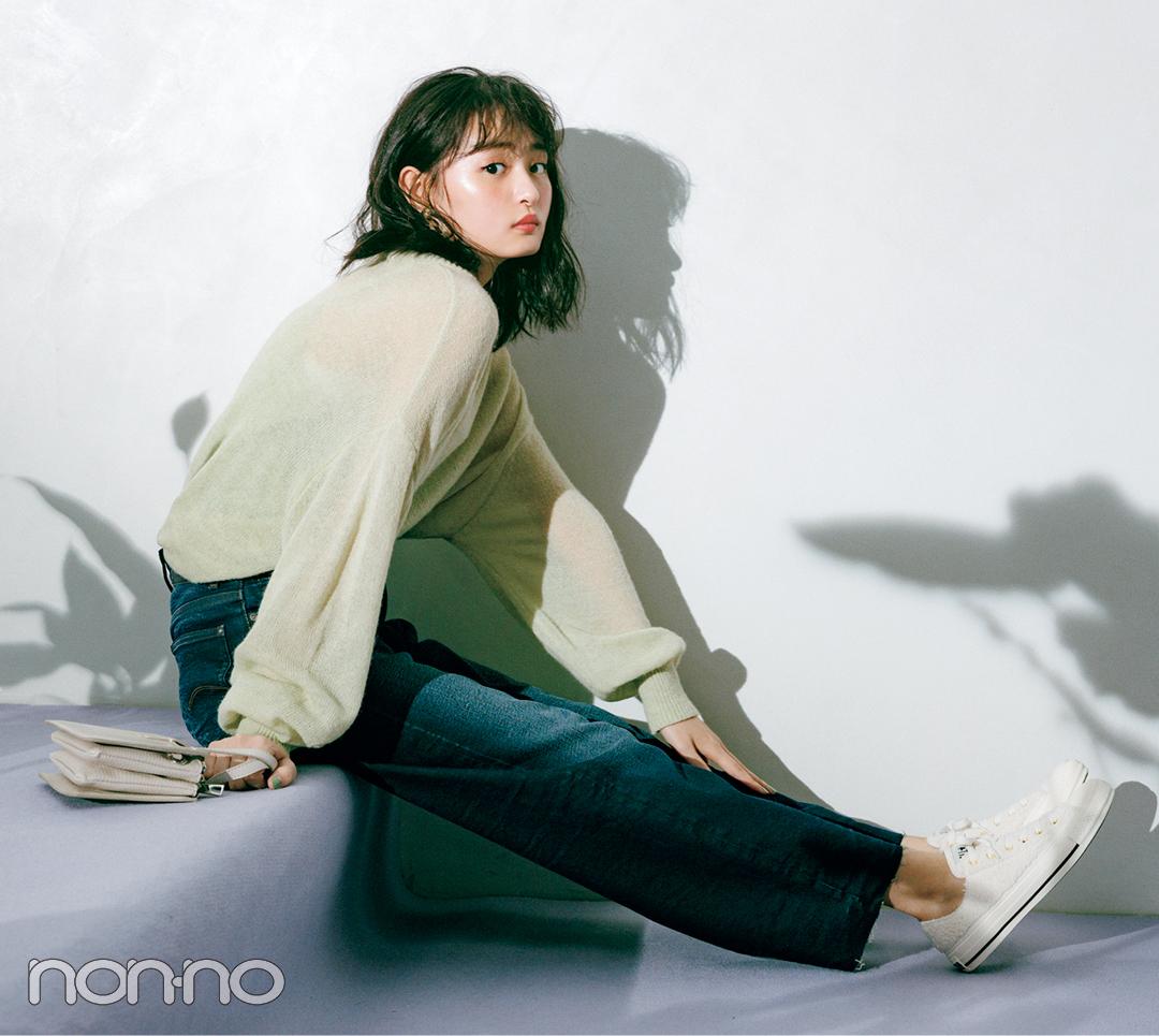 三女・遠藤さくらは「ハイウエストストレート」で今っぽスウィートに①【坂道3姉妹のデニム】_1_3