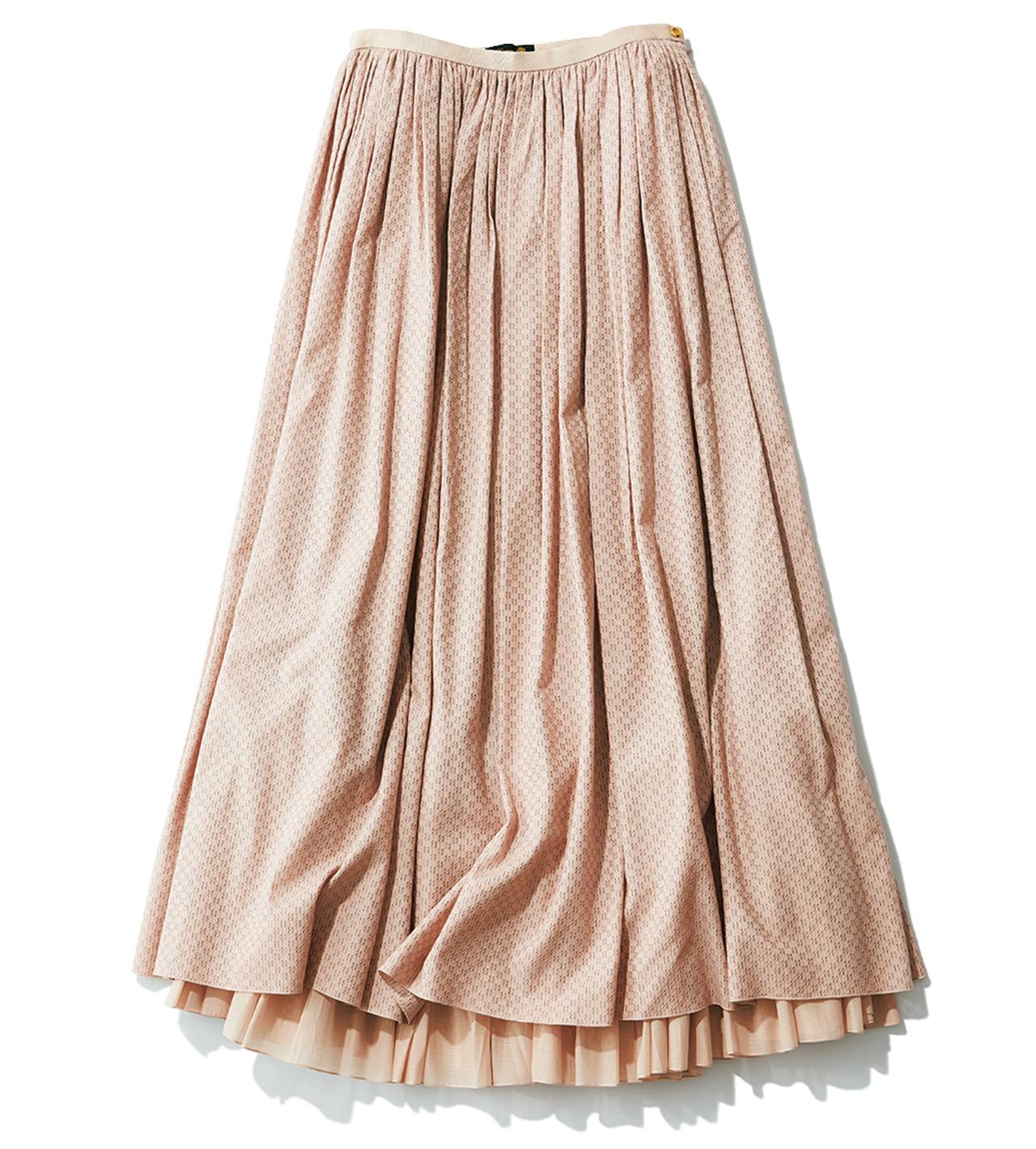 ニュートラルなピンクのスカート