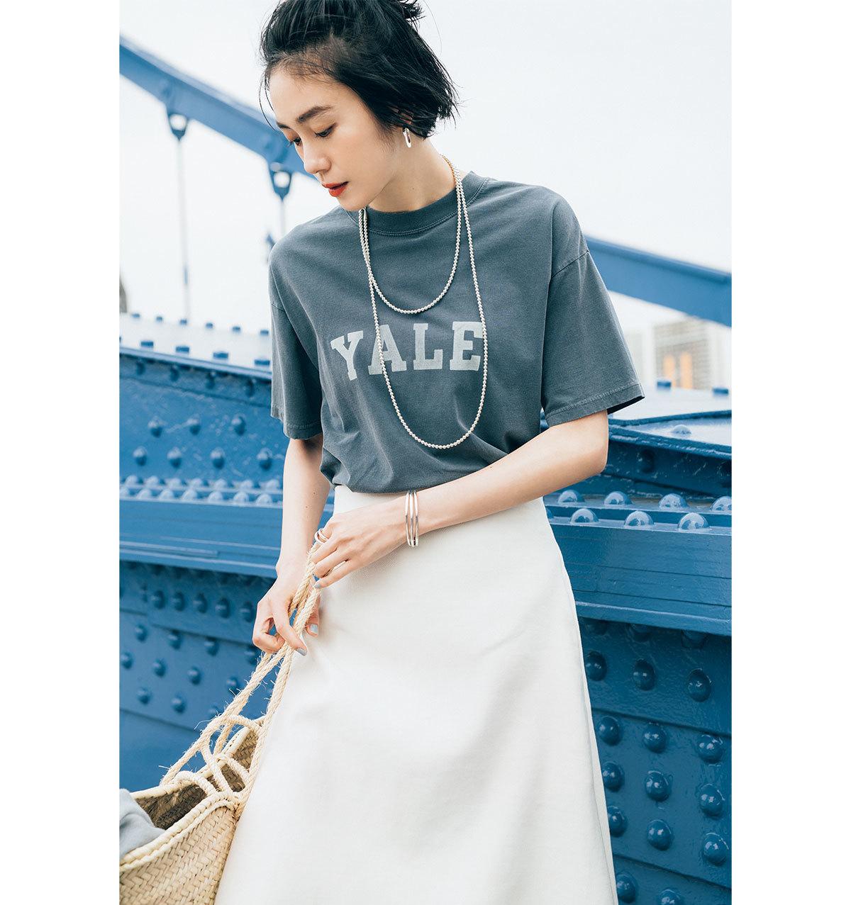 ■LOGO T-Shirt ニュアンスカラーや小さなロゴならきれいめに楽しめる