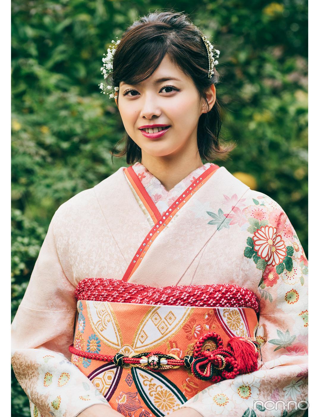 渡邉理佐の振袖コーデ♡ ピンクは同系色合わせで上品&可愛らしく【成人式2020】_1_2-1
