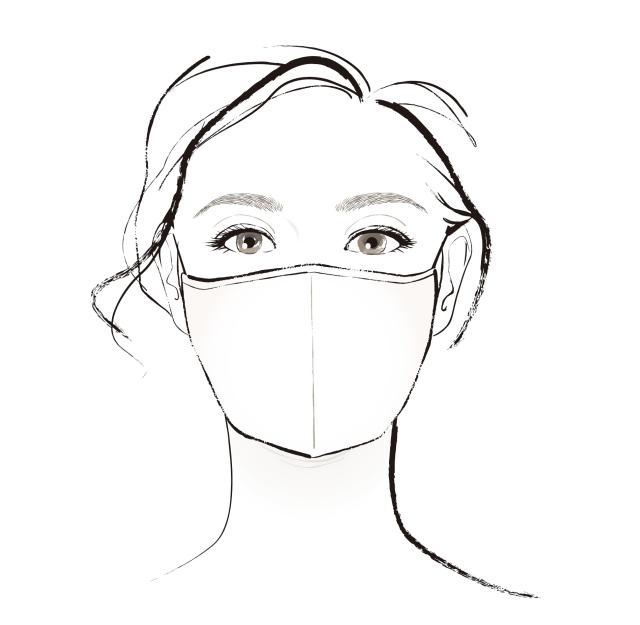 マスクをしたイラスト