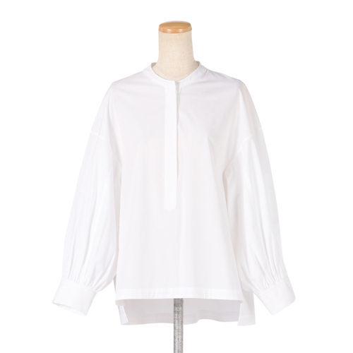 さわやかなサックスをエクラが別注!「SINME」の袖ボリュームシャツ_1_2