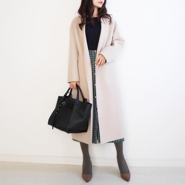 ツイードスカートで冬の装い♡ 【tomomiyuの毎日コーデ】_1_2