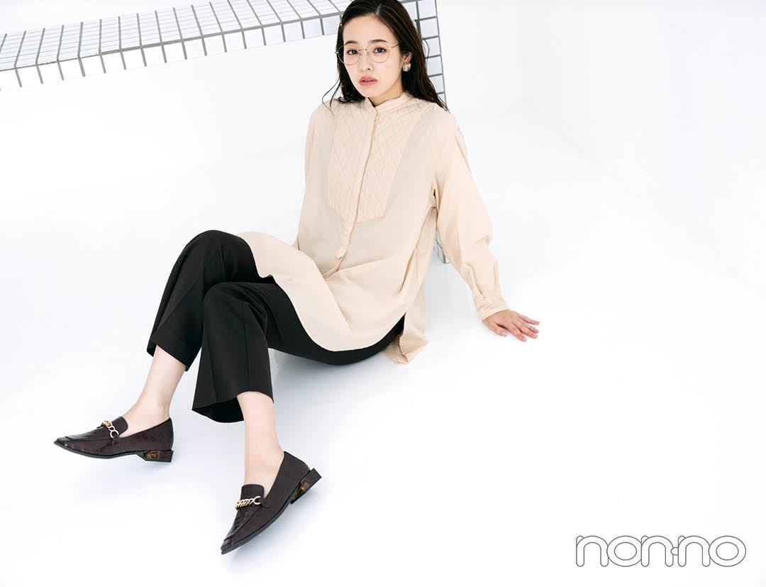 横田真悠の秋のクラシカルトップスモデルカット1-6