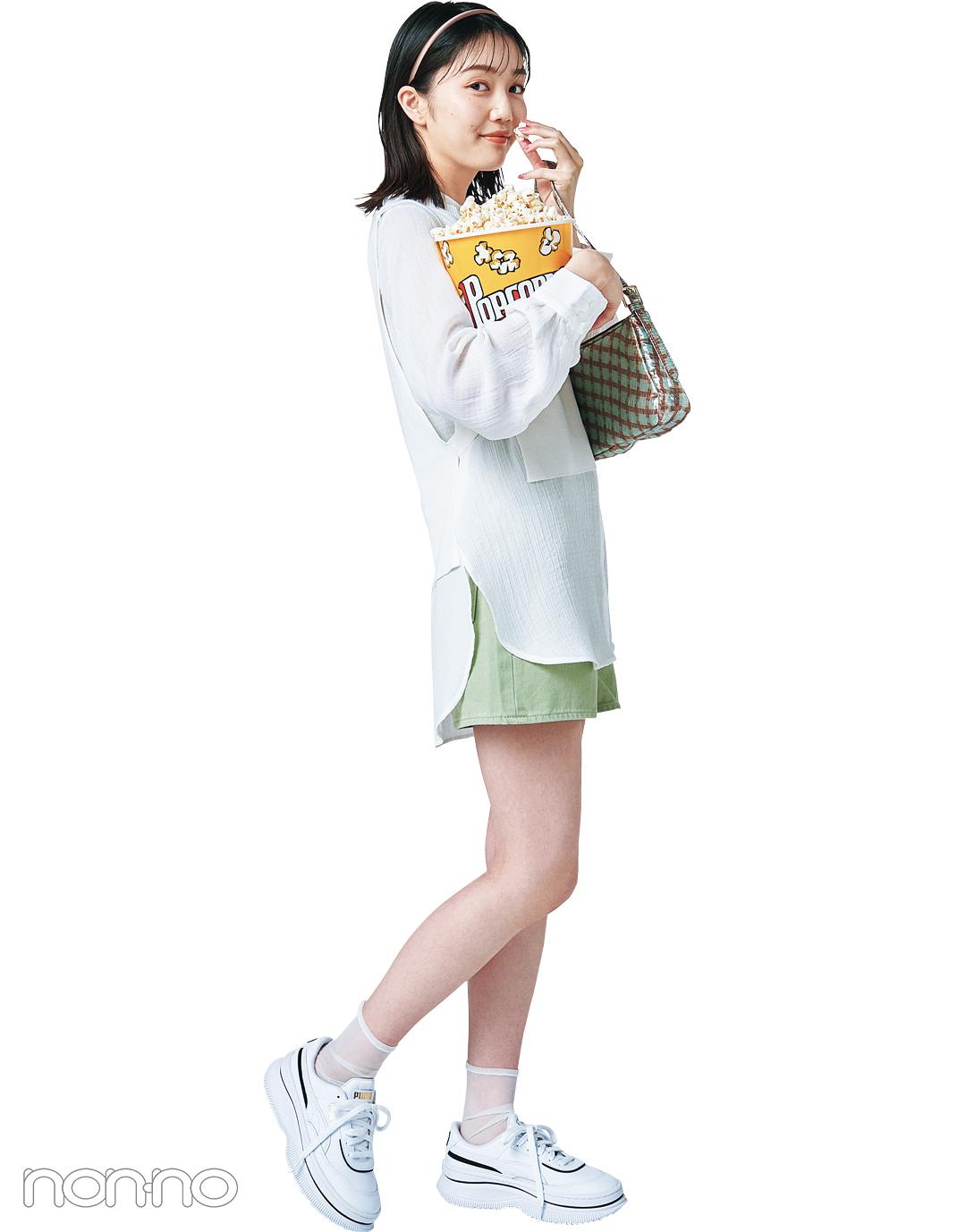 松川菜々花のミニボトムコーデ2
