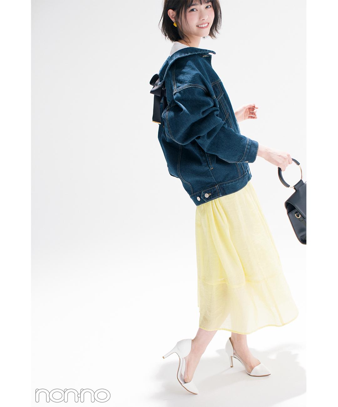 優子・七瀬・まなみんが着る! 女子が永遠好きな配色★パステル×デニム2018春の4選_1_3-2