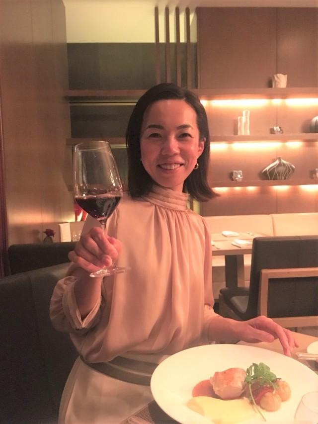【ZARA】高みえ♡光沢ベージュブラウスで、コンラッド東京「セリーズ」ディナー _1_4-3