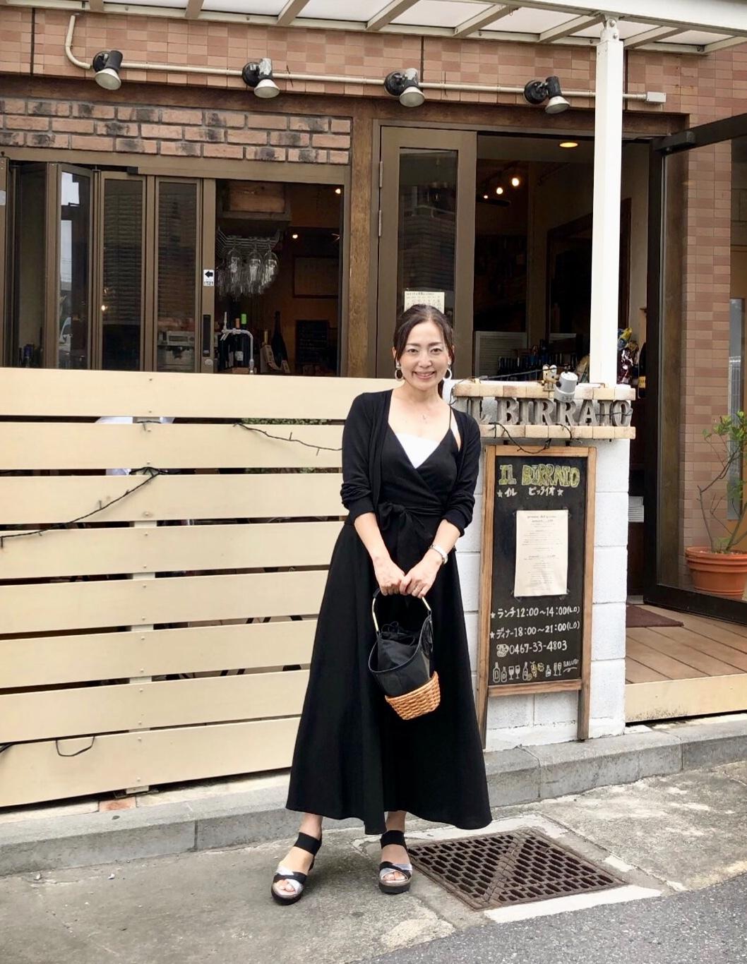 夏の高見えブラックワンピース♡_1_2
