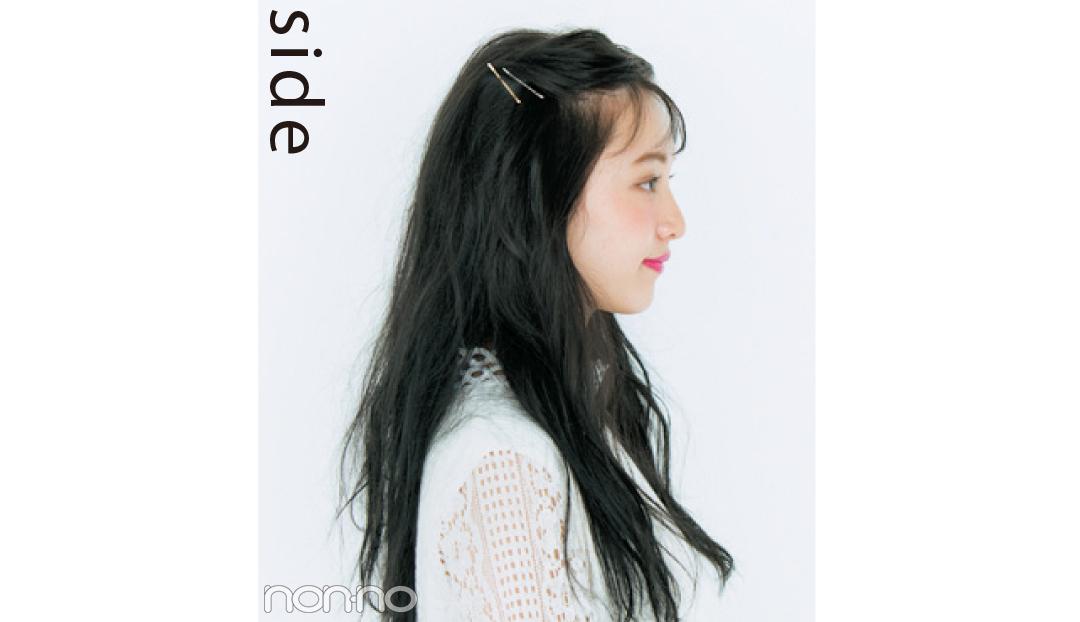 黒髪に似合うヘアアレンジ★ふんわり前髪だけで今っぽ感UP!_1_2