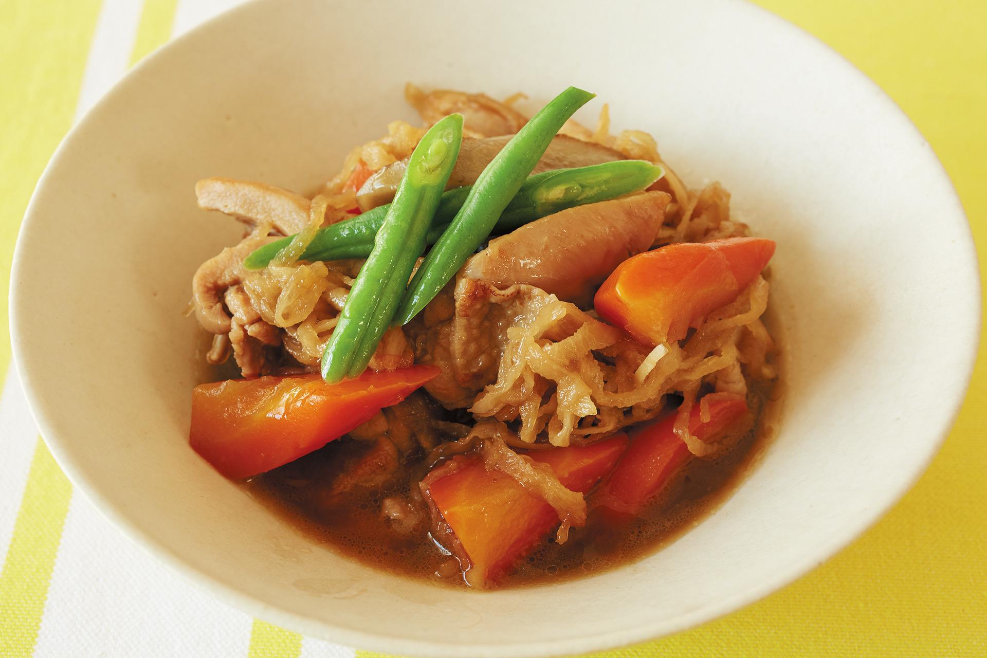 体を温め&代謝もアップ! 鶏肉と根菜の炒め煮_1_1