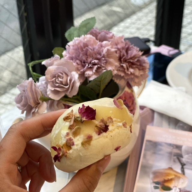 桃のマリトッツォ♪