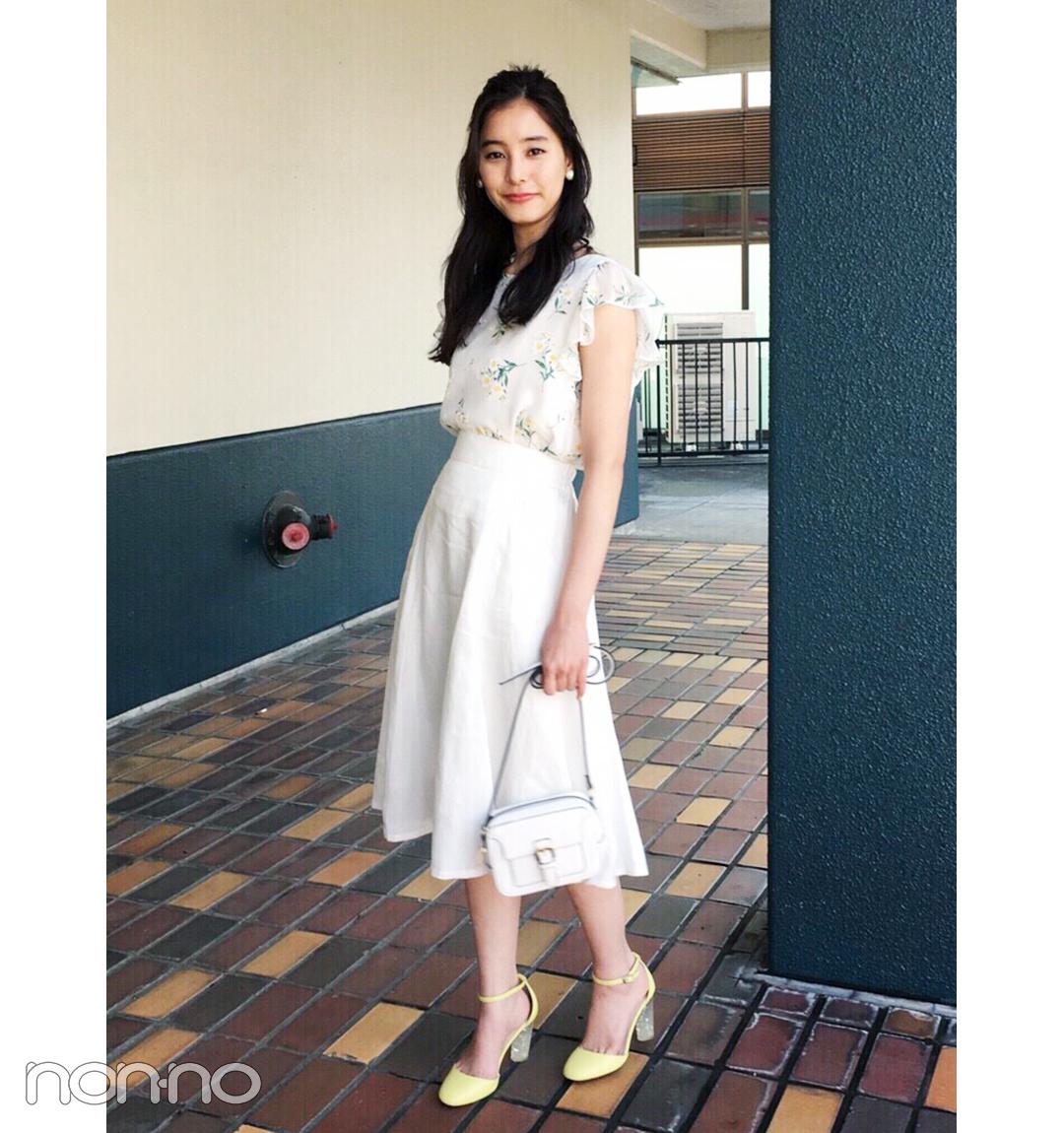 新木優子のイエロー×白コーデが夏っぽ可愛い!【毎日コーデ】_1_1