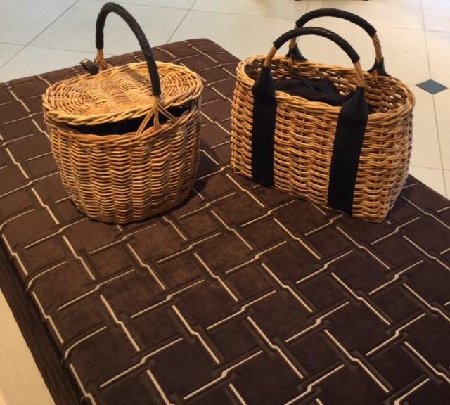 巾着型のインナーバッグ付で使いやすい、VEGETALのかごバッグ_1_2