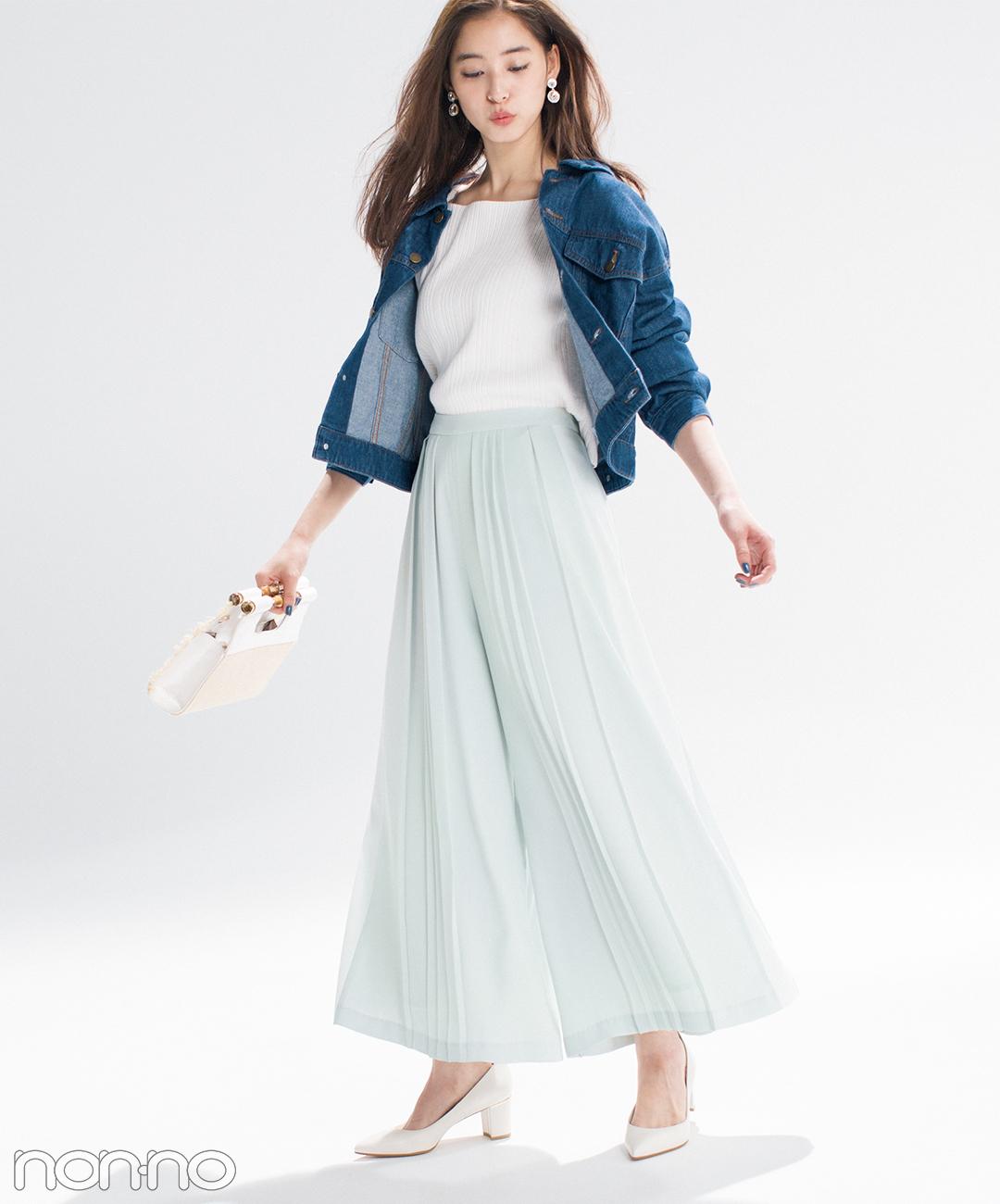 優子・七瀬・まなみんが着る! 女子が永遠好きな配色★パステル×デニム2018春の4選_1_3-3