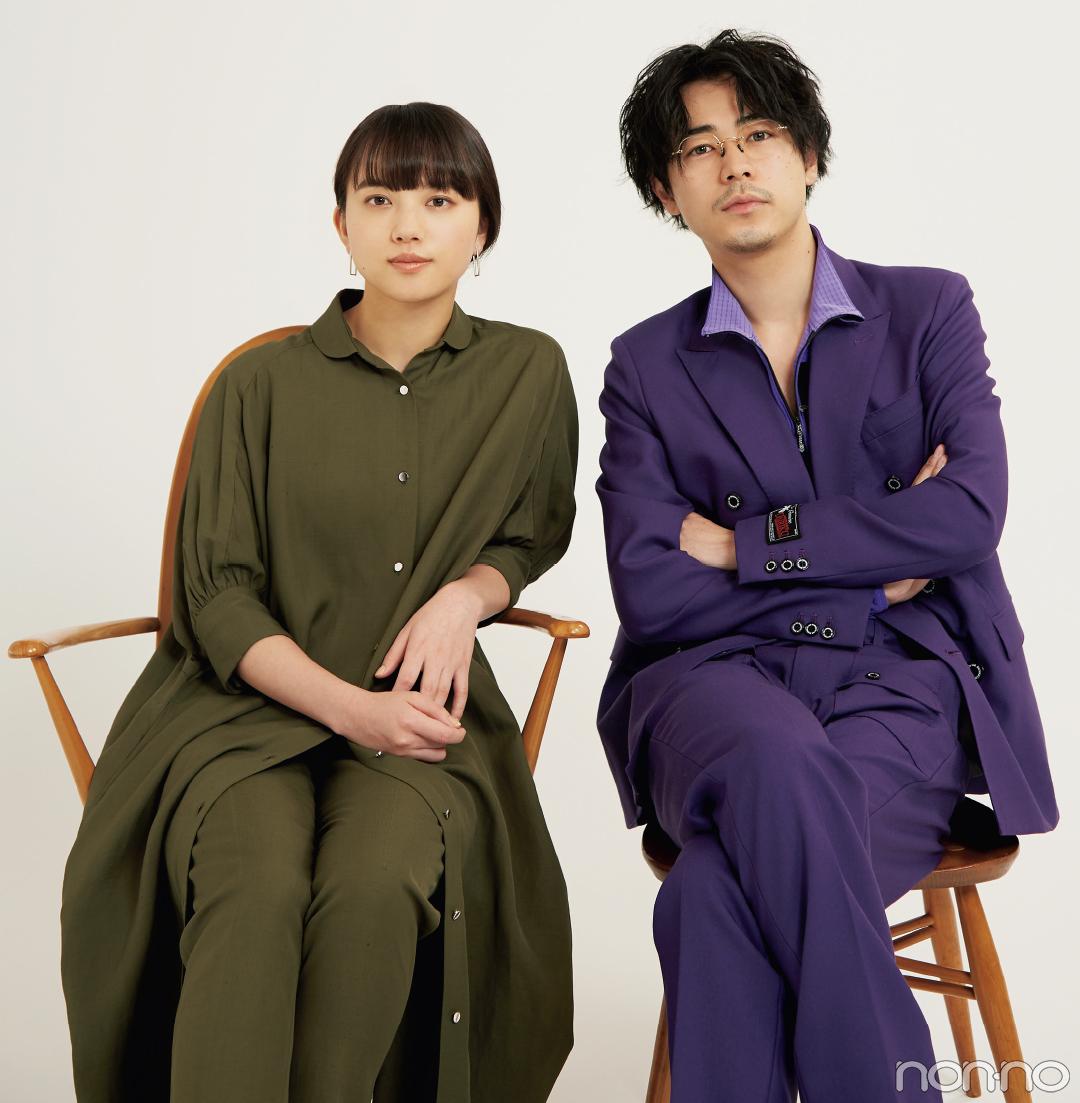 インタビューに応じてくれた成田凌さんと清原果耶さん