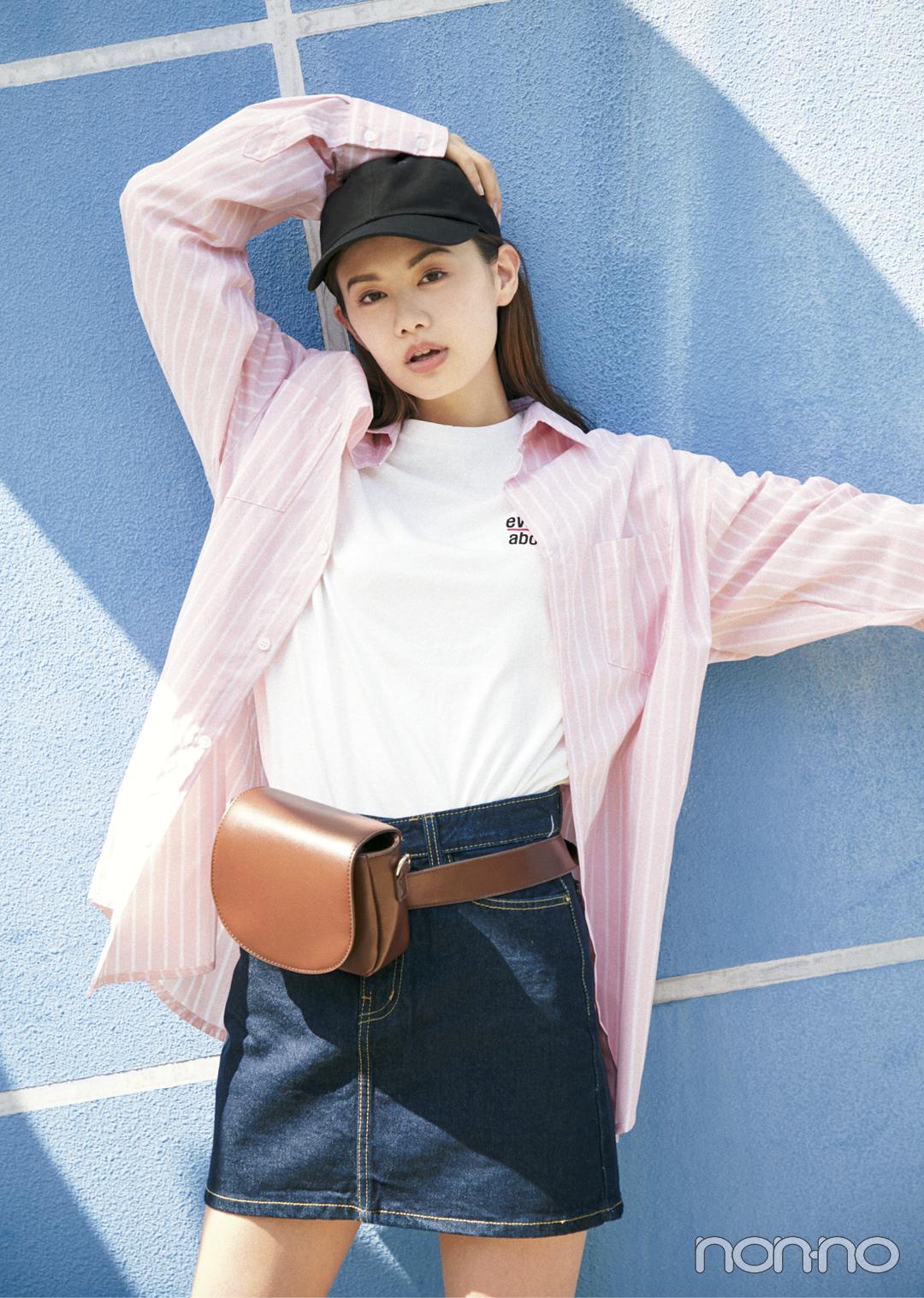 韓国ファッション初心者必見! ビッグシャツをおしゃれにはおるには?_1_1