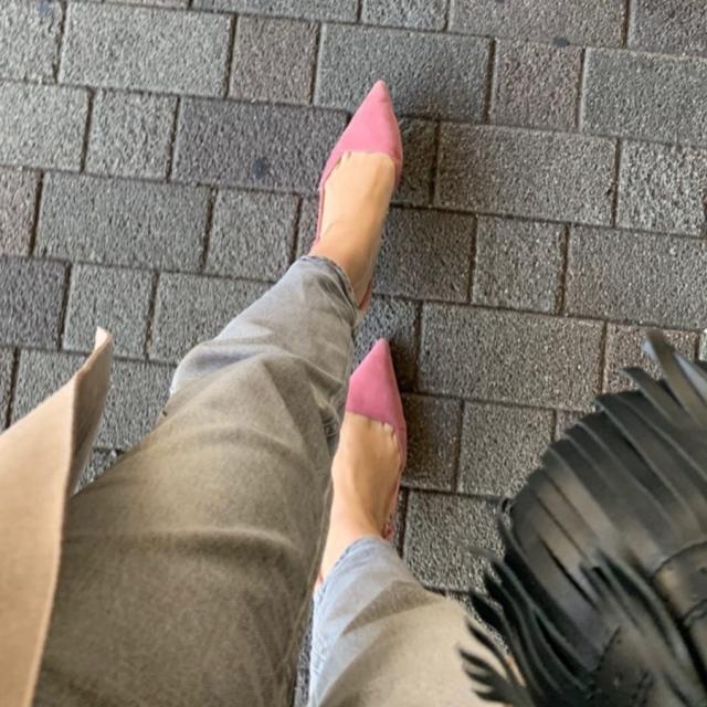 足元をピンクにするだけでhappy