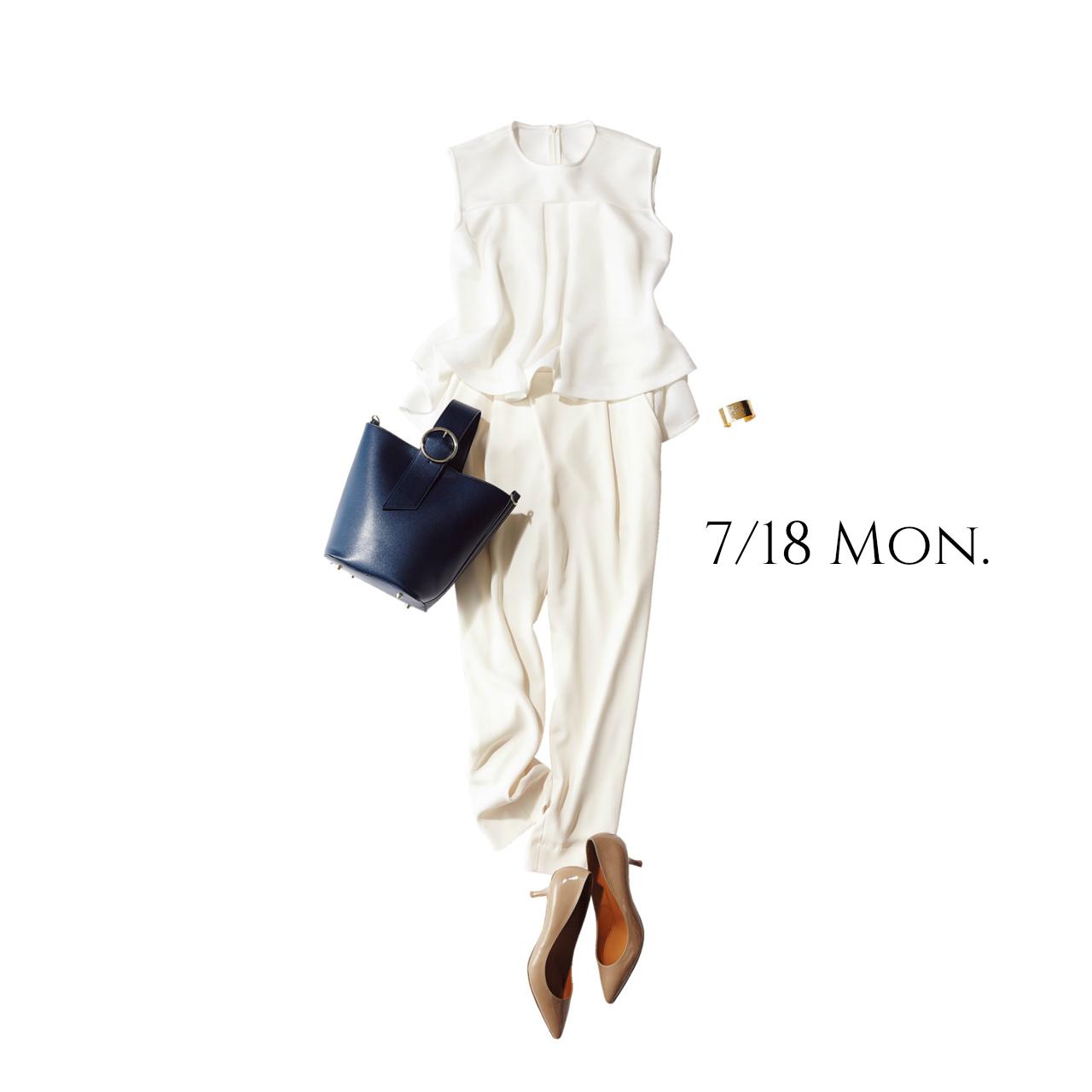 """明日は""""海の日""""。全身白の凛とした爽やかコーデで女っぷり上々♡_1_1"""
