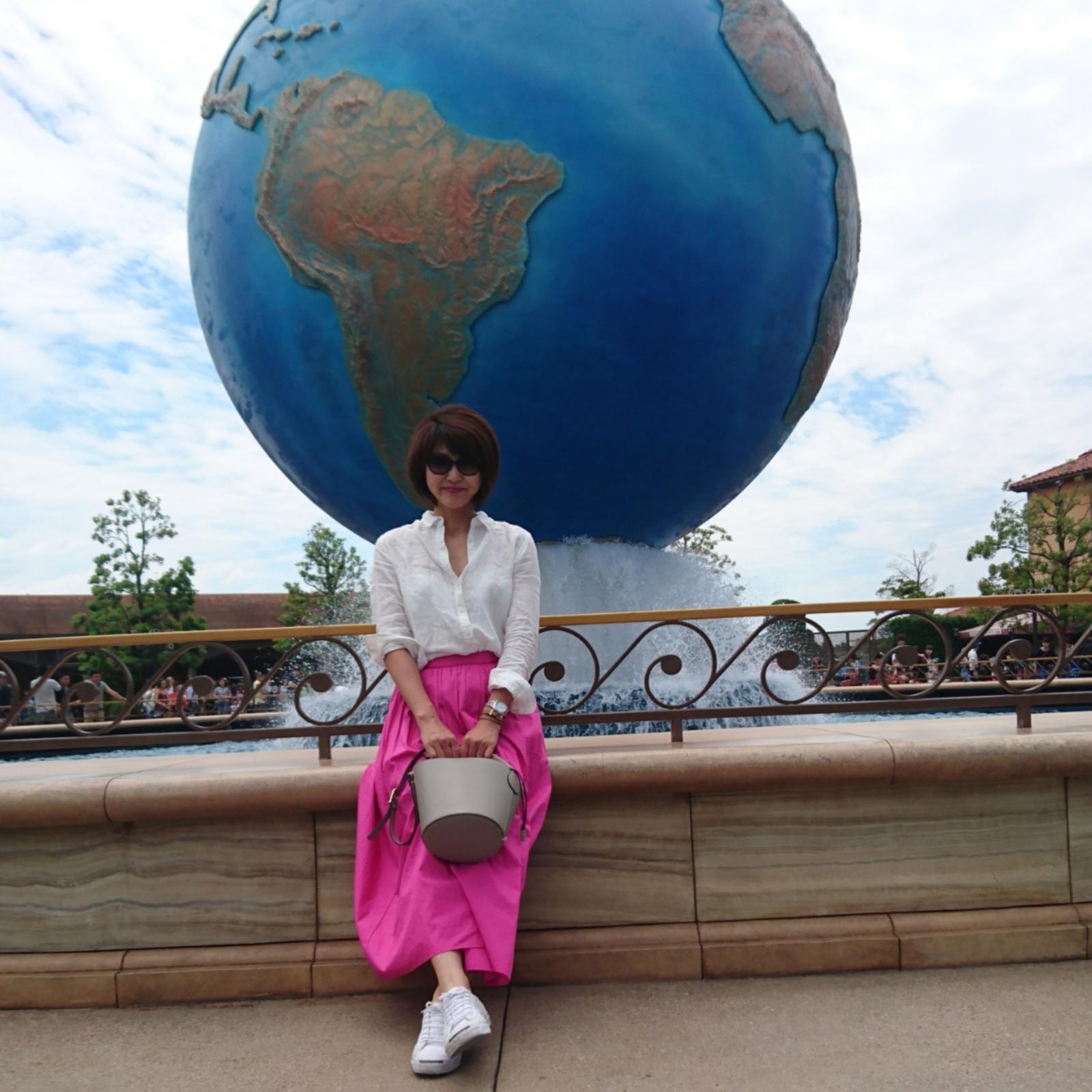 大きめさんのふんわりピンクスカート_1_1