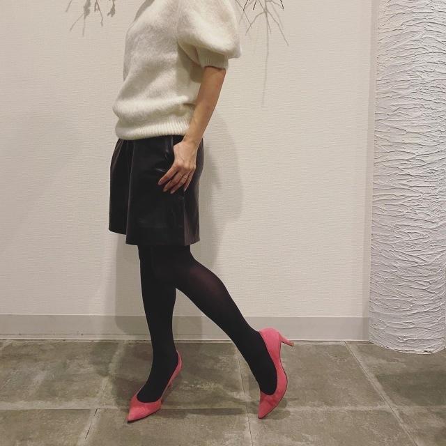 11月号付録「ニュアンスブラック美脚タイツ」コーデ実例!美女組の着こなしまとめ_1_13-2