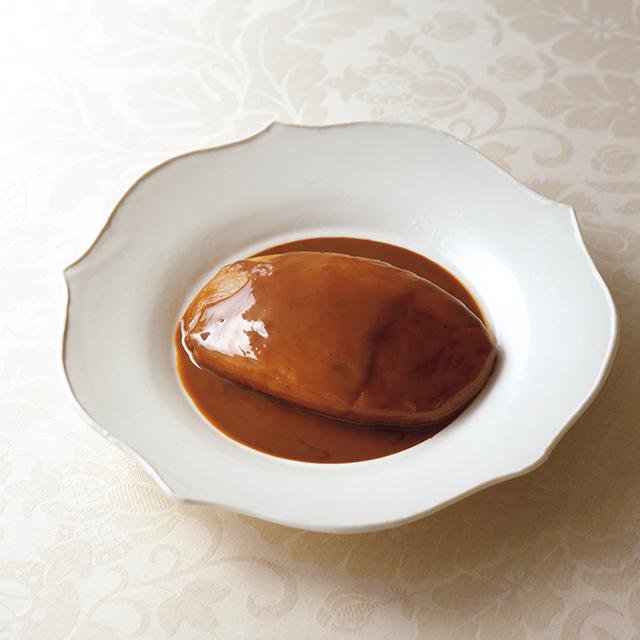 「ホタテ貝のクネル・アメリケーヌクリームソース」¥1,300