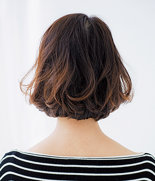 すっきりボブもMIXパーマで柔らかな髪質を演出【40代のボブヘア】_1_1-3
