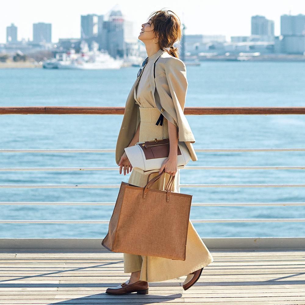 SHIHOが着るベージュスタイル。洗練、可愛げ、遊び心…アラフォーが欲しいものがこの色には全部ある!_1_1-1