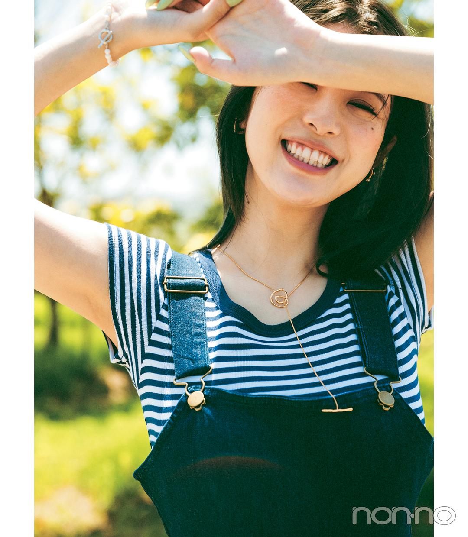 馬場ふみかのTシャツを可愛く着こなす方法のコーデ2-1