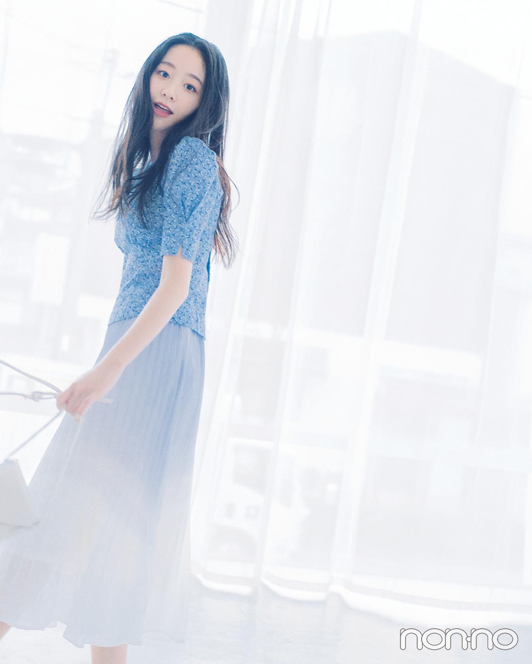 西野七瀬&堀田真由の春のあいまいカラーコーデ♡ 寒色系パステルならこんな感じ!_1_9