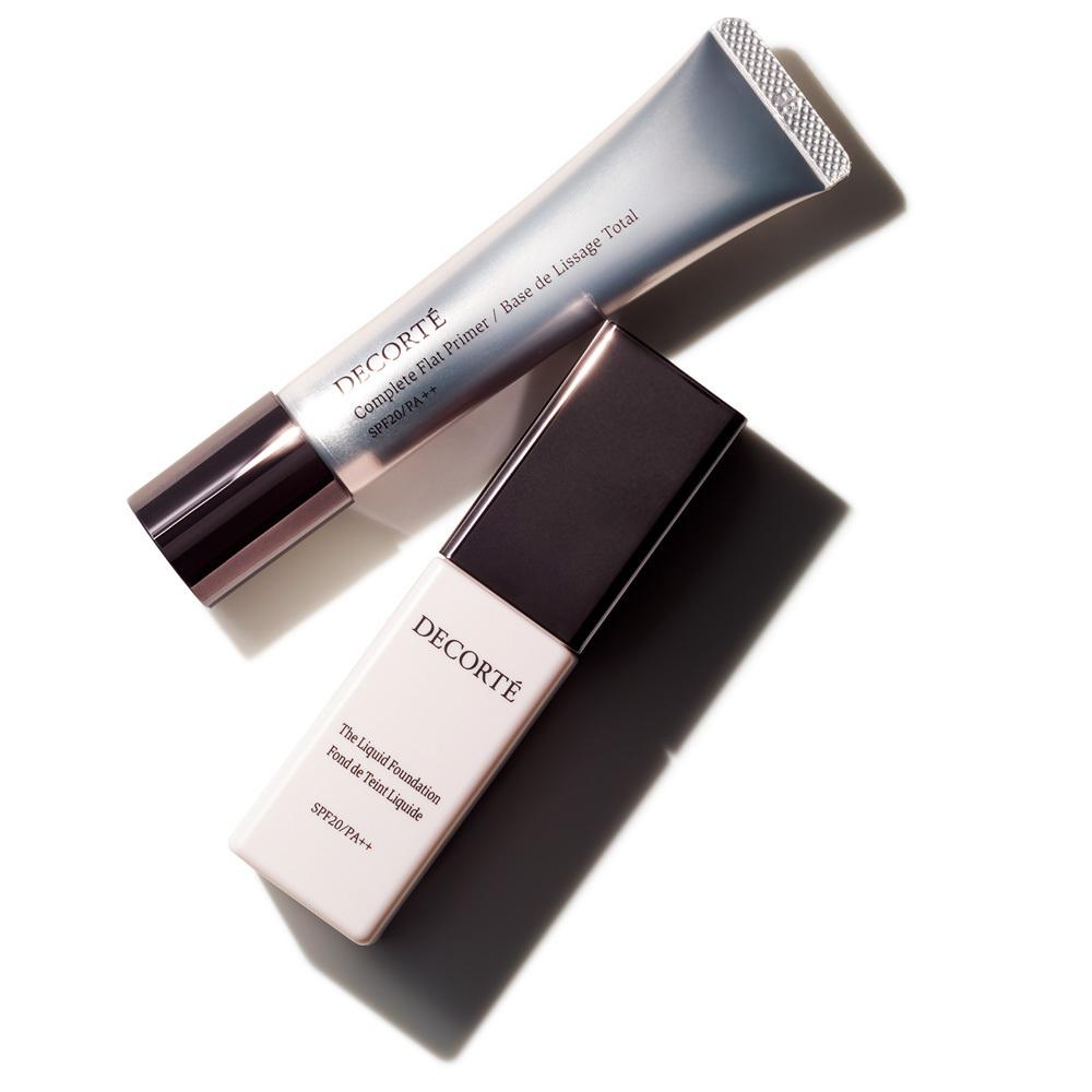 美容プロおすすめコスメ8  コスメデコルテのコンプリート フラット プライマー&ザ リキッドファンデーション