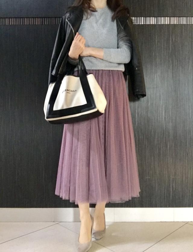 1枚で華やぐ♡チュールスカートで「甘辛MIX」_1_4