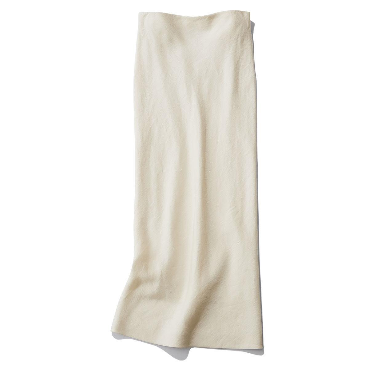 マディソンブルーの白タイトロングスカート