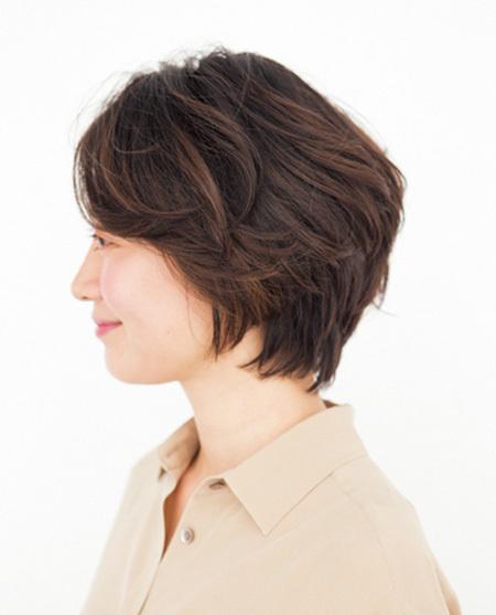 知的な印象のショートこそ親近感をどこかに残して【40代のショートヘア】_1_1-2