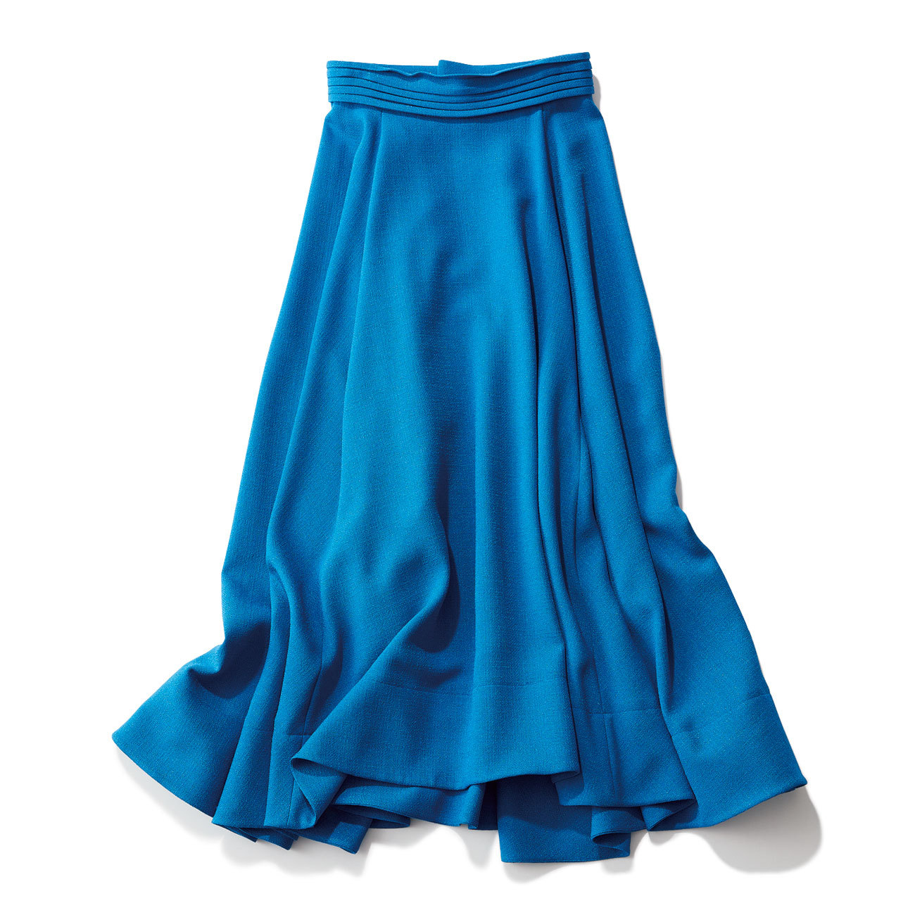 エブールの鮮やかブルー揺れ感スカート