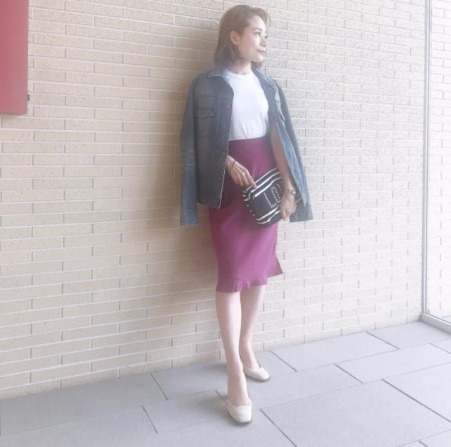 甘さとアラフォーのいい関係、今度はピンクのスカートで。_1_2