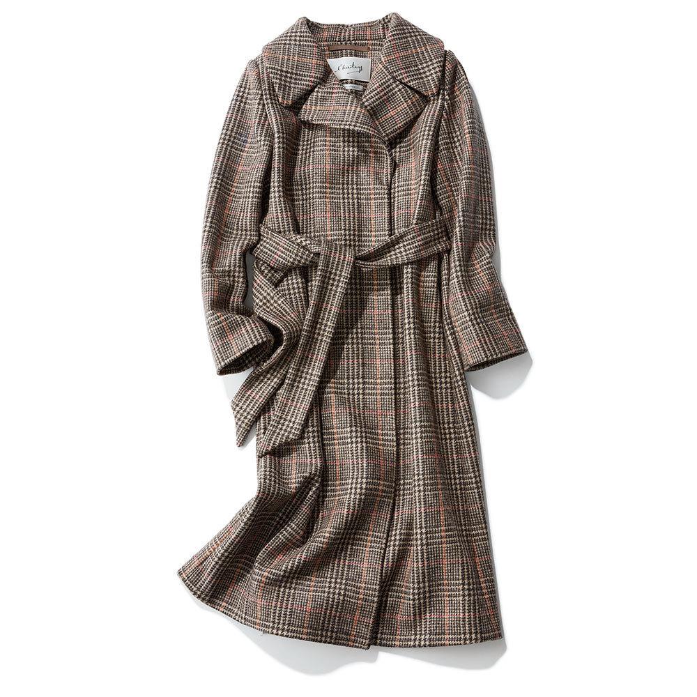 2018年冬の本命コートはレリタージュ マルティニークのチェック柄コート